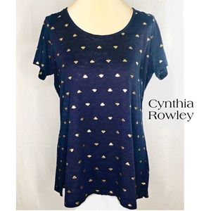 Cynthia Rowley Honey Bee Navy Tee